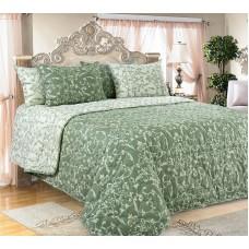 """Покрывало на кровать """"Вирджиния зеленый"""""""