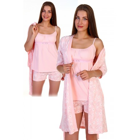 "Пижама с пеньюаром ""Фламинго"""